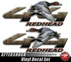 Redhead Duck 4x4 Truck Sticker Waterfowl Hunting Camouflage Decal Set for Ford