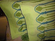 VINTAGE SEARS ROEBUCK IRON BED FINIALS GREEN BLUE (PAIR) STANDARD PILLOWCASES
