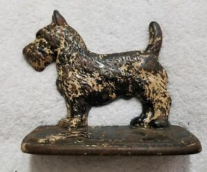Vintage Scottie Dog Cast Iron Book End/Door Stopper (Pre-Owned)