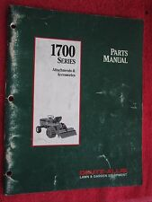 1991 DEUTZ ALLIS SERIES 1700 LAWN TRACTOR ATTACHMENTS & ACCESSORIES PARTS MANUAL