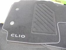 Renault Clio MK3 III Genuine Car Mats Carpet 2006 ON ALL MODELS BLACK