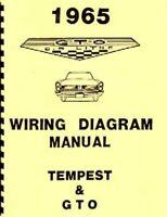 1965 65 Pontiac Tempest GTO LeMans Full Color Laminated Wiring Diagram 11