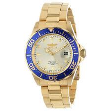 Invicta Pro Diver Submariner Analog Quartz Gold 18k Plated Men's Watch 14124