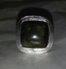 Designer Signed Barse Sterling Silver Natural Stone Ring Size 7.75 NR 12g
