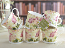 Set of 6 PORTLAND QUEEN Fine Bone China PALACE MUGS With Gold Rim CREATIVE TOPS