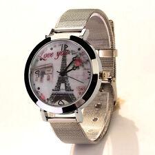 Women Casual Watch Stainless Steel Quartz Analog Bracelet Mesh Belt WristWatch