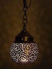 Bronze Handmade Moroccan Ceiling Pendant Light Lampshade, Looks amazing!