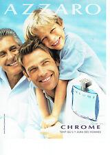 Publicité Advertising 058  2009   eau toilette homme Azzaro  Chrome
