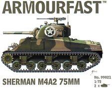 Armourfast, 99021, Sherman M4A2 75mm  (x2) ,US tank, model kit, 1:72