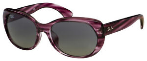 Ray-Ban Sunglasses RB 4325F 643111 59 Striped Bordeaux | Grey Gradient Lens