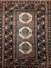 Hand Knotted Vintage Pakistan Bokhara Jhaldar Wool Area Rug 3 x 2 Ft