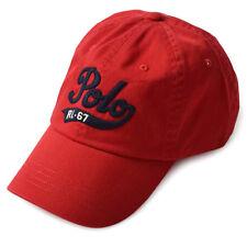Polo Originals Mens Hat Baseball Cap Leather Strap Pony Logo RL-67 Ralph Lauren