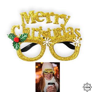 GLASSES MERRY CHRISTMAS Specs Xmas Sunglasses Fancy Dress Party Accessories UK