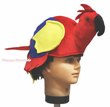 Hot Red Parrot Bird Warm Hat Unisex Kids Adult Cosplay Costume