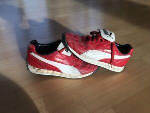 Puma Avanti Sneaker Rot/ Weiß Größe UK 9 US 10 EUR 43 sehr gebraucht !