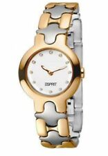 Authentic ESPRIT Ladies Watch Sweet Steel 2 Tone Gold + Free Esprit Bag