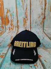 Breitling Watches Navy Blue Snapback Baseball Cap Embroidered Spellout Logo Hat