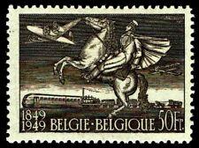 1949 Belgium #C12 Airmail 100th Anniversary - Ohlh - Vf - Cv$52.50 (Esp#3215)