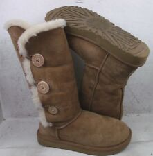UGG Australia Womens Bailey Button Triplet II Chestnut Boots Shoes size 8 M