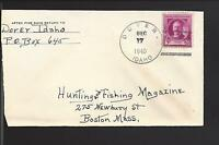 DOVER, IDAHO COVER,1940, 3CT FAMOUS AMERICAN COMEMMORATIVE, BONNER CO.1910/OP.