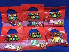 Super Mario Luigi Yoshi Bowser Peach Toad 6 Figure Complete Dydo Coffee Japan FS