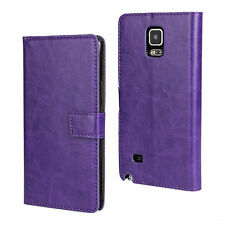 Plain Synthetic Leather Cases for Samsung Galaxy Note 4
