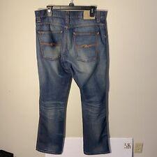 Nudie Jeans Slim Jim Organic Broken Dream Rinse 36x34 Organic Cotton EUC Blue