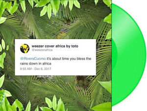 """Africa / Rosanna Single - Weezer Limited Edition 7"""" Green Colored Vinyl LP"""