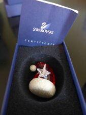Swarovski Crystal Santa's Hat Ornament Christmas Figurine NIB 944873