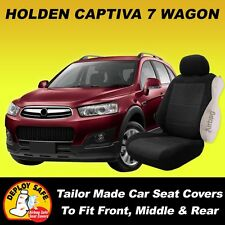 Car Seat Cover For HOLDEN CAPTIVA 7 Seater Front Middle and Rear 03/2011-Current