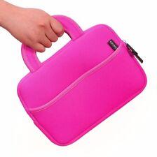 "Moko 7-8"" Tablet Bag Magenta Pink Sleeve Case Neoprene Bag Zippered"