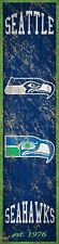 """Seattle Seahawks Heritage Banner Retro Logo Wood Sign New 6"""" x 24"""" Wall Est 1976"""