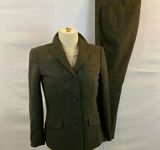 Brooks Brothers Tollegno Italy Wool TWEED PANTS SUIT SZ 4