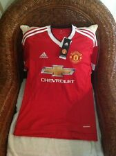 Manchester United adidas red  Short Sleeve soccer Jersey Size S Men's