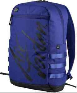 NEW Nike Air Jordan Flight Script Backpack Germain Blue Black 9A0174 B47 $75