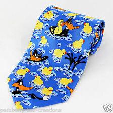 Looney Tunes Daffy Duck Mens Silk Necktie TV Cartoon Rubber Ducky Neck Tie New