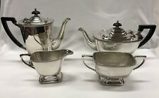 Vintage 1950s Hecworth Silver Coffee And Tea Four Piece Set Made In Australia