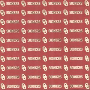 "University of Oklahoma Sooners DARK/CREAM NCAA Scrapbook Paper 12x12"""
