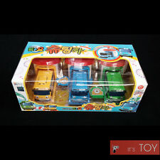Tayo the little Bus Shooting Cars Tayo Rogi Rani 3pcs Garage launcher Toy set