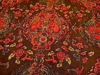Chinoiserie Fabric Foo Dogs Payne Norma Hand Print Collection Linen Fabric VTG