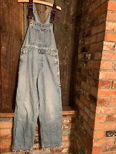 Tommy Hilfiger Vintage Jeans Blue Overalls M 30 x 30 Destroyed Distressed