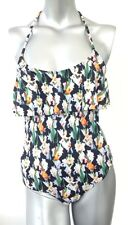 Topshop Layer Shelf Floral Black Swimsuit Monokini Costume SW57 6,8,10,12,14,16