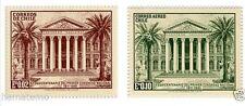 Chile 1961 #653-54 Sesquicentenario del Primer Congreso Nacional MNH