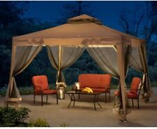 Outdoor Gazebo 10x10ft Side Curtains, Aluminum Hardtop For Backyard Bug Nets.