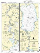 NOAA Chart St. Johns River Dunns Creek to Lake Dexter 17th Edition 11495