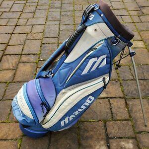 MIZUNO GOLF BAG STAND BAG / BLUE WHITE - 7 club divider ROCK CREEK COUNTRYCLUB