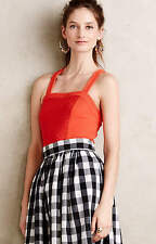 NEW ANTHROPOLOGIE Gavi Halter Tank Top S Small by Deletta Red Orange