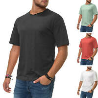 Jack & Jones Herren T-Shirt Kurzarmshirt Herrenshirt Shirt Oversize Look SALE %