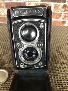 Vintage Rolleiflex Automat Model 2 Compur-Rapid Film Braunschweig Camera & Case