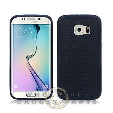 Samsung Galaxy S6 Edge Hybrid Mesh Case - Black Case Cover Shell Protector Guard